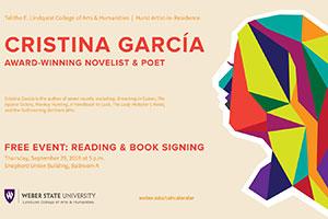 Hurst Artist in Residence: Award-Winning Novelist and Poet Cristina García