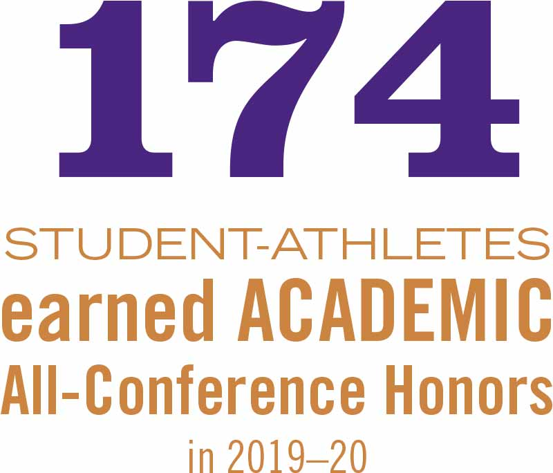 174 student athletes earned academic all-conference honors in 2019-20.