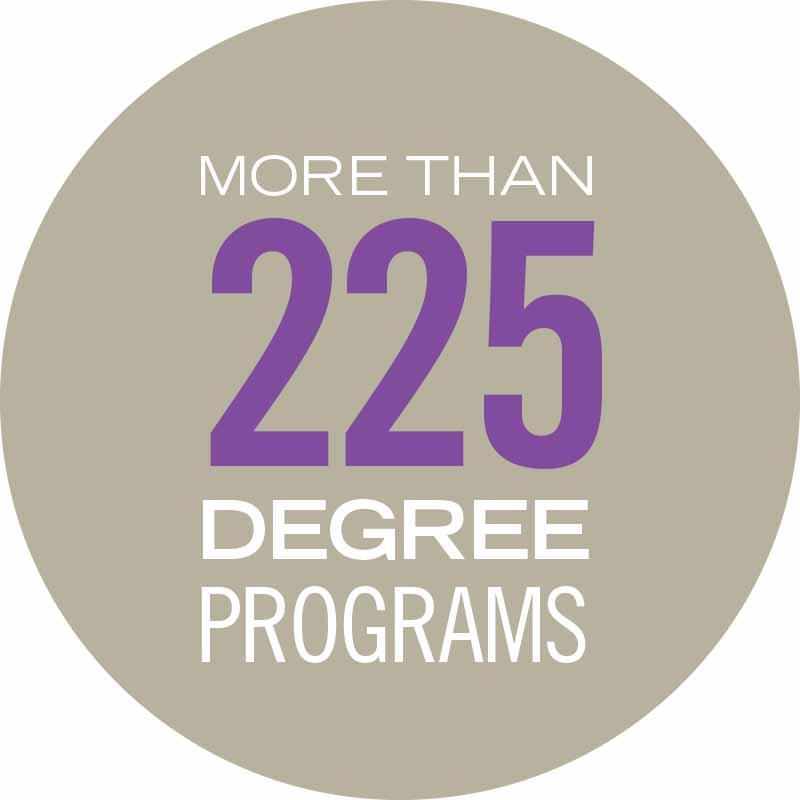 WSU has more than 225 degree programs