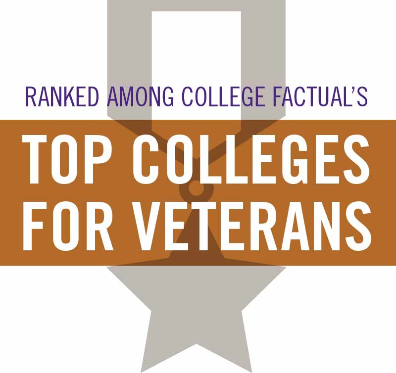 Ranked among college factual's top colleges for veterans.