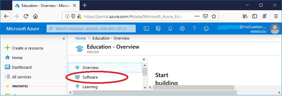 screenshot showing to click software