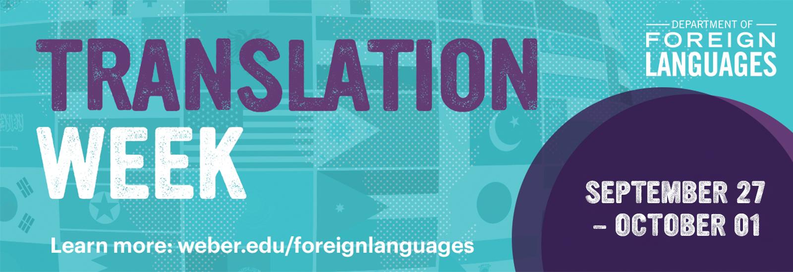 Text reads: Translation Week