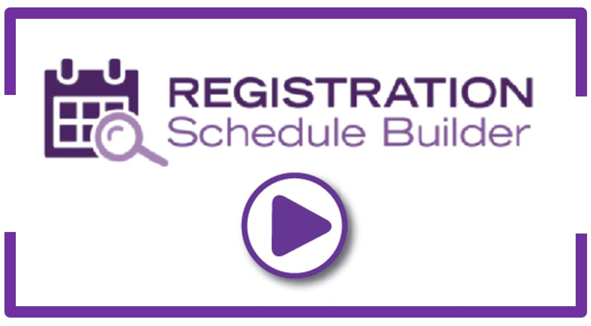 Registration Schedule Builder Video