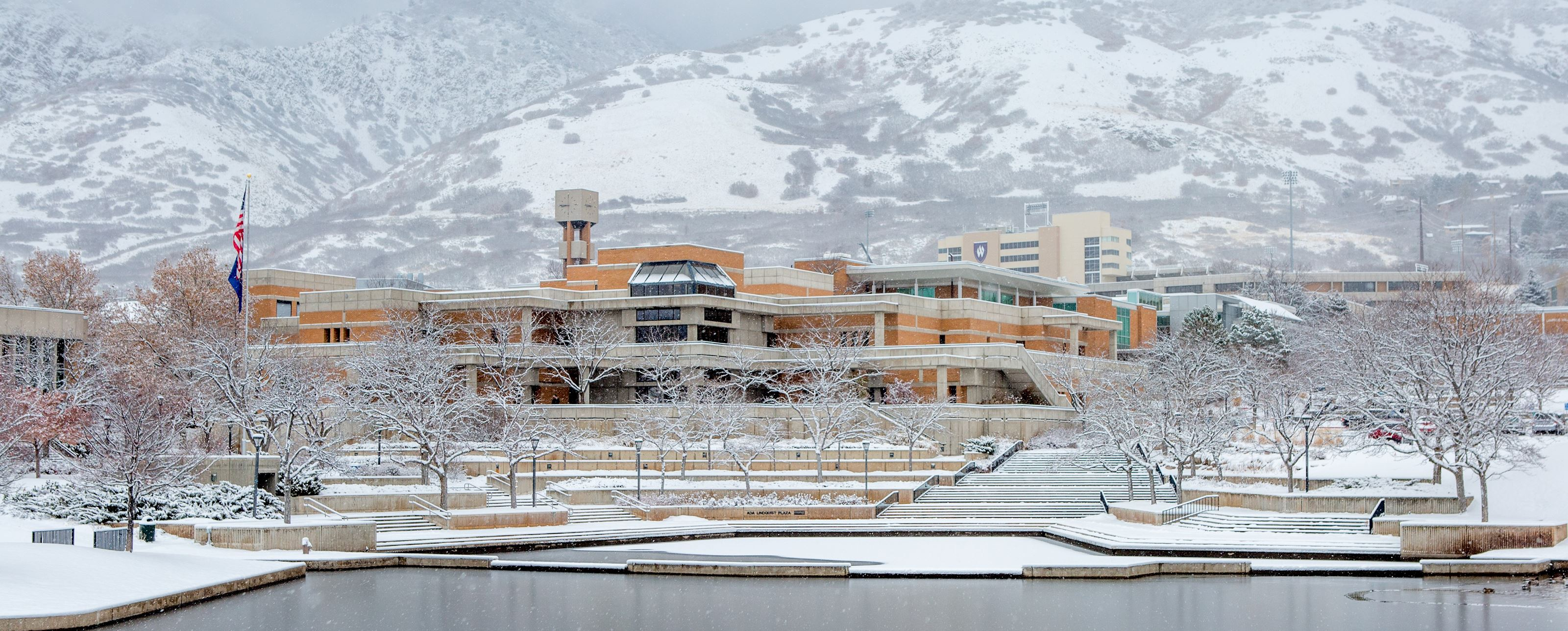 Weber State Campus during winter
