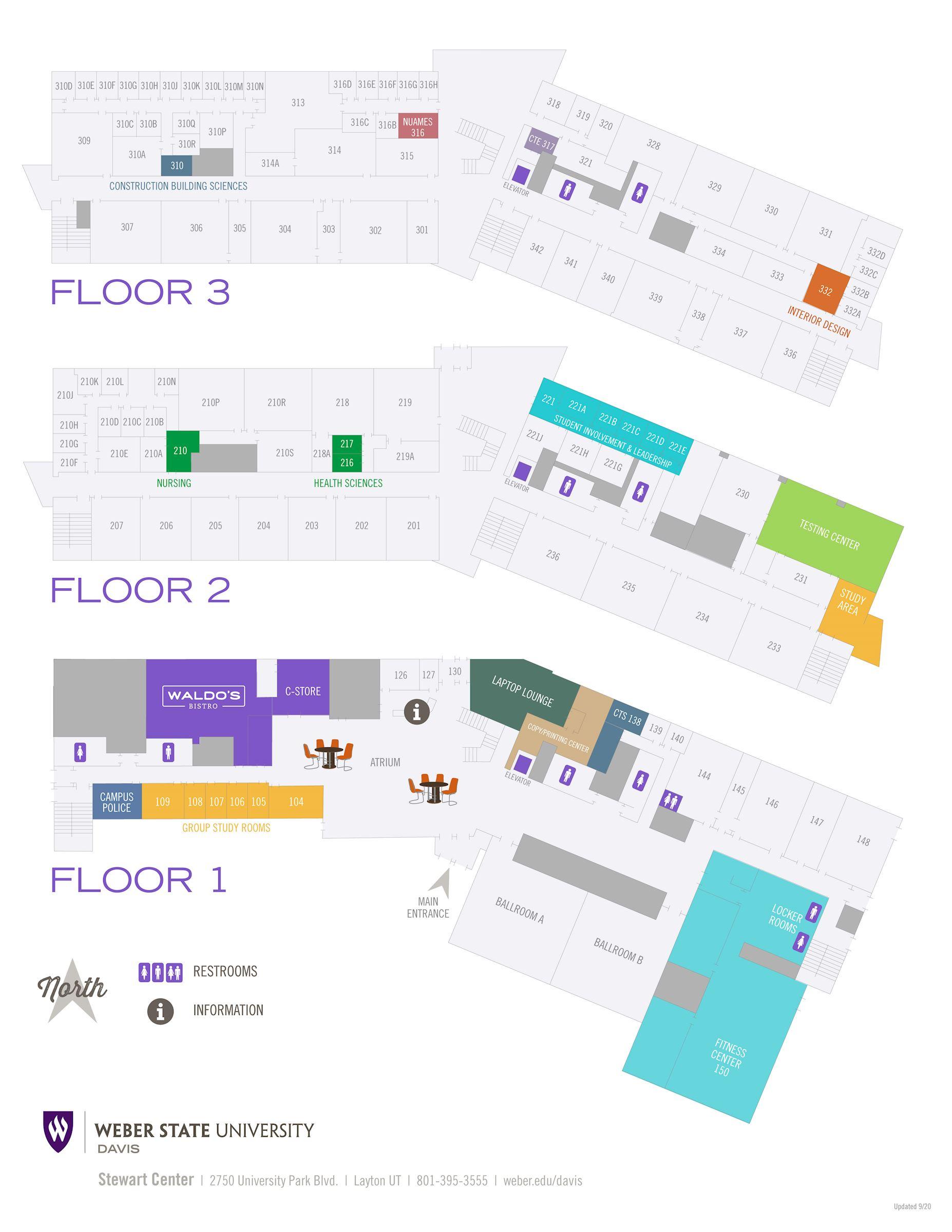 map of WSU Davis building D3