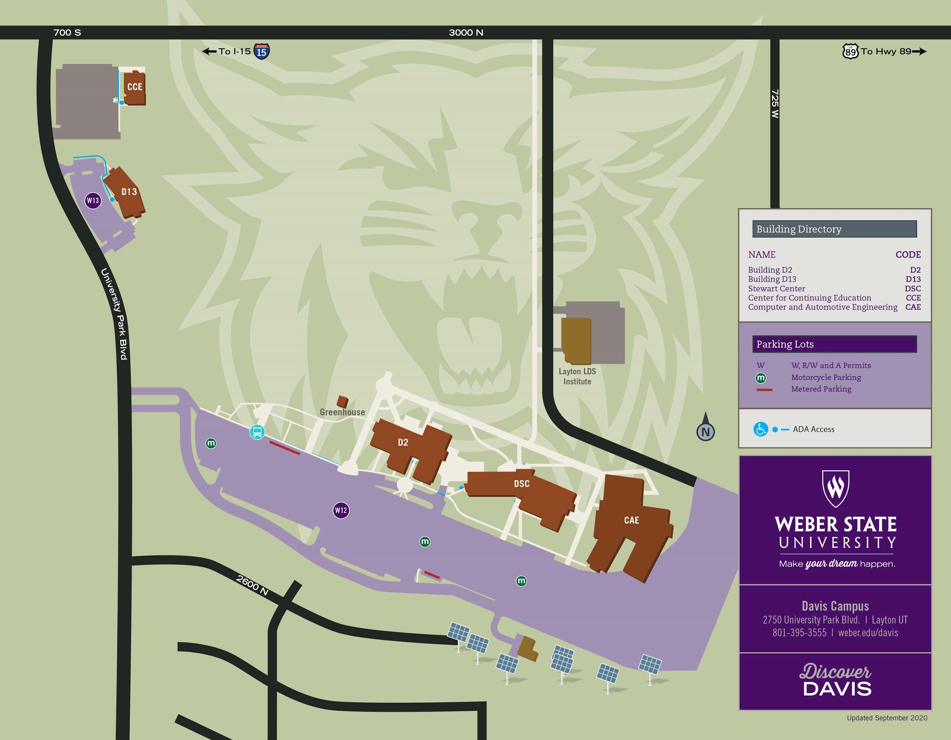 WSU Davis Map