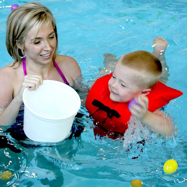 child at egg dive