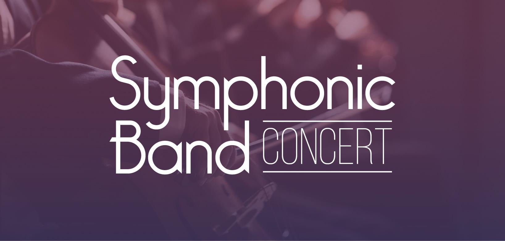 Text reads: Symphonic Band Concert