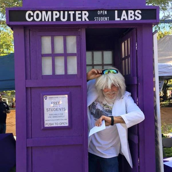 doc in the computer labs tardis