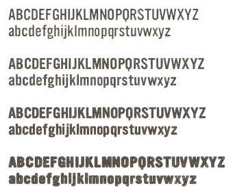 graphic sample of YWFT font characters
