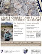 Dr. Stephanie Mills - Utah's Mineral Resources