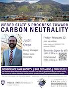 Justin Owen - Weber State's Progress Toward Carbon Neutrality