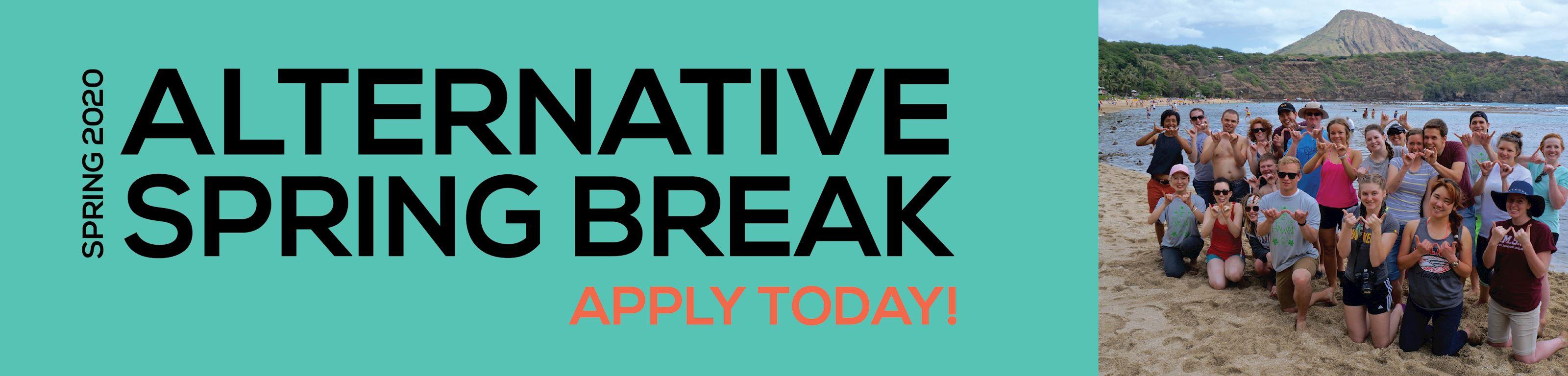 Alternative Spring Breaks Apply Today!