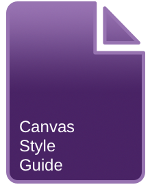 the Canvas Style Guide