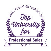top university for professional sales in 2017 from sales education foundation