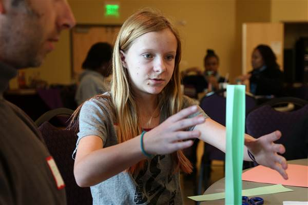 Dozens of 11-15 year old girls from around Northern Utah spent the day at Weber State University for Parent-Daughter Engineering Day on Saturday, Nov. 15, 2014.