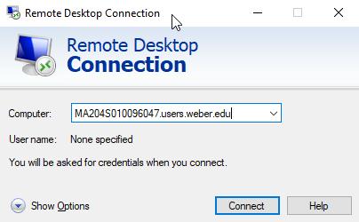 Remote Computer Name