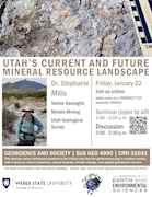 Dr. Stephanie Mills - Utah's Current and Future Mineral Resource Landscape