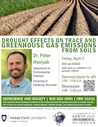 Dr. Peter Homyak - Drought effects on trace and greenhouse gas emissions from soils