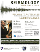 Dr. Ben Holtzman: Seismology With Your Ears: Listening to patterns in tectonic, volcanic, and human-induced earthquakes