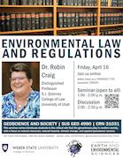 Dr. Robin Craig - Environmental Law and Regulations