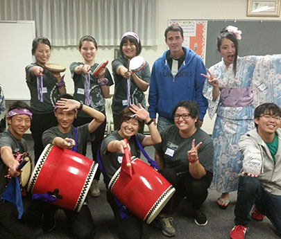 drumming students
