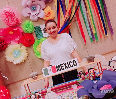 student representing mexico