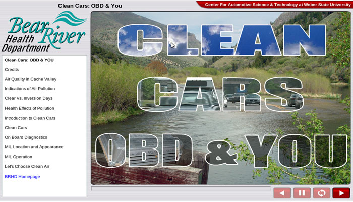 OBD Clean Air Training, Cache County Utah