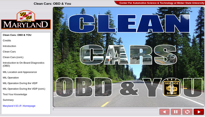 OBD Clean Air Training, Maryland