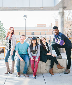 students on WSU campus