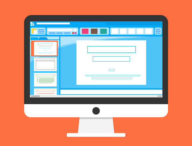 a presentation being created in PowerPoint