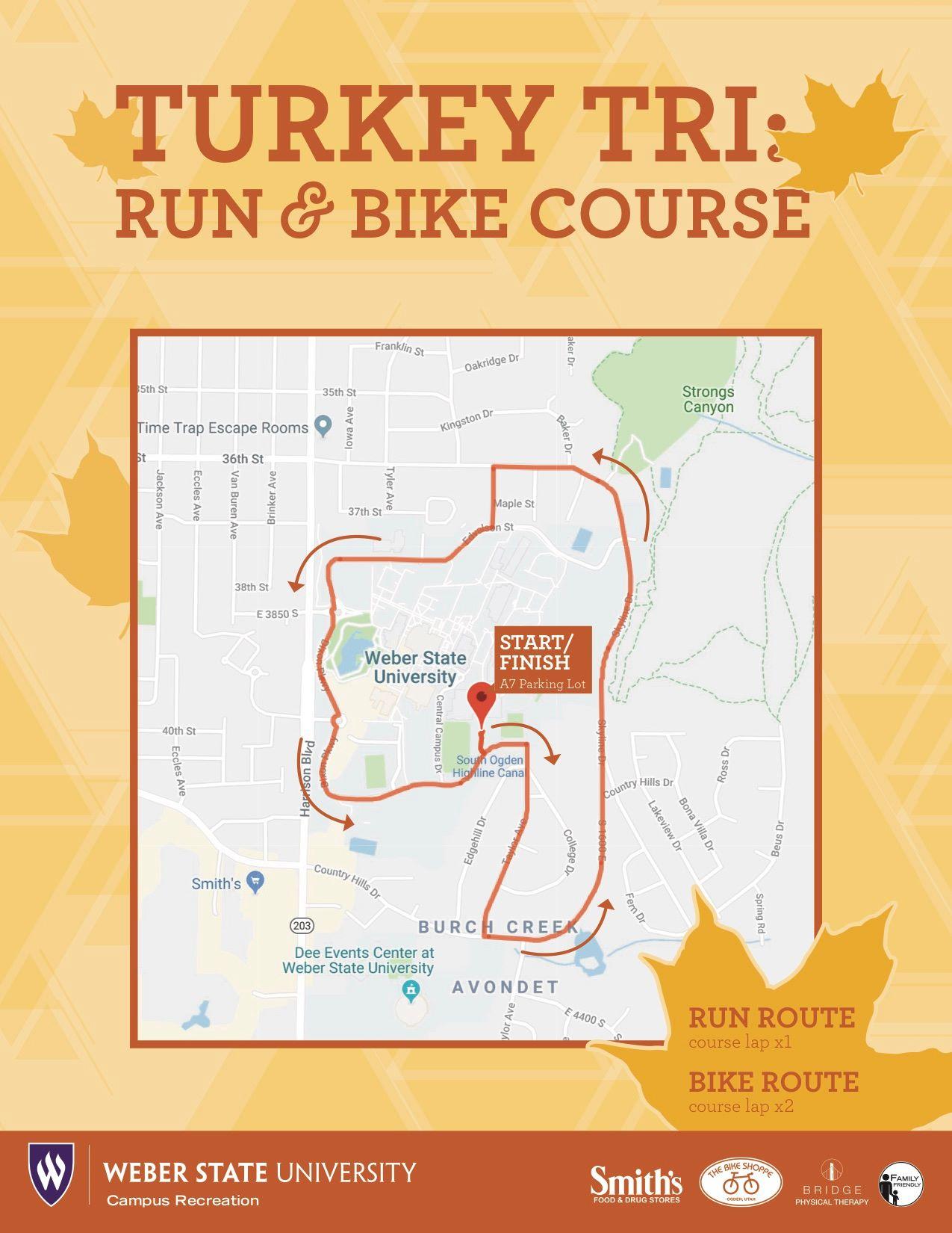 run and bike course