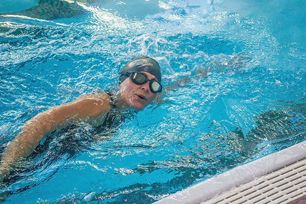 racer swimming