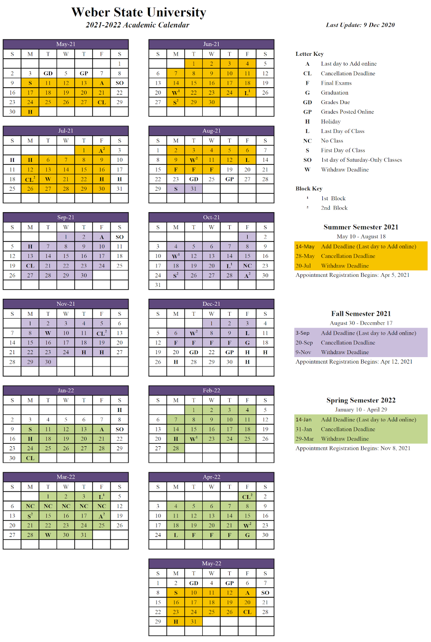 University Of Utah Academic Calendar Fall 2022.2021 2022 Approved