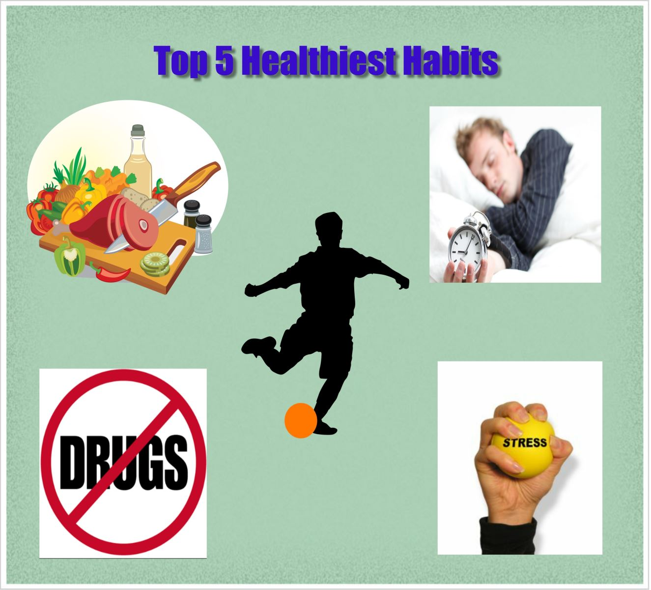 The Top Five Things the Healthiest People in the World Do 1. Exercise- but be sure to do it the fun way.  More and more research is showing us that moderation in all things means in exercise too.  If you are not already active consider following these guidelines: •	Find at least two things that you like to do. If you like to walk, swim, bike, play basketball, do yoga, aerobic DVDs, lift weights, dance by yourself while listening to your IPod , it's all great. •	Rotate between the two or three activities you choose.  This creates cross-training so you get fit faster, and keeps you from getting bored with exercise. •	Take the number 180 and minus your age. This is your new maximum heart rate. (We told you this is new stuff.) Now train so that your heart rate while exercising is from there to 10 beats below that number. This builds a solid cardiovascular foundation and you will get fit without feeling too fatigued or tired.  NO PAIN, you can go longer, and you still get those awesome endorphins! 2. Eat right - A calorie is not a calorie, so counting calories is not always the best way to go. It is far better to choose foods that FILL YOU UP.  If you eat foods that are easily digested, (breads, most cereals, juices, crackers, and treats) you will get hungry sooner, you will eat more food, and you put yourself at risk for diabetes, obesity, cancer, stroke, and heart disease. Instead choose healthy foods that are harder to digest and make you feel fuller longer.  •	Eat more protein and healthy fat foods. YES eat healthy fat! People who eat healthy fat and protein, especially for breakfast eat fewer calories during the day weigh less.  •	Other foods that are full of phytochemicals, antioxidants, fiber, protein and healthy fats are:  o	nuts (almonds, walnuts, cashews, pecans, pistachio).  o	beans (black, kidney, pinto, garbanzo).  o	100% whole grain products (if it doesn't say 100% whole grain – it isn't). Don't be fooled when it says 4 grams of whole grain per serving.  That's pathetic, really. o	10-11 Veggies and fruits per day – WE NEED THESE! There are over 80,000 good chemicals in these foods that help your immune system. You can't replace that with a vitamin pill.  3. Get Enough Sleep – People who do not get enough sleep weigh more, remember less, and are as dangerous as drunk drivers on the roads. People who don't get enough sleep are also more likely to get sick, stay sick, exercise less, eat worse, and yell at their kids.  Need we say more?  4. Manage Your Stress –When the stress response is turned on for short periods, you can escape danger. When it is turned on chronically, your health is in danger. Train your mind to think differently. You have handled hard things before, you can handle this. Also, take time each day to relax so that your body/mind/spirit can get in balance again. Read, exercise, go for a walk, watch something funny, breathe, write in your journal, do a relaxation exercise, meditate, or sit in the grass and look at the beautiful mountains. 5. Don't take any drugs that you do not need. Utah is fourth in the nation for non-medical use of prescription pain relievers. Prescription drug overdose is now the number one cause of injury death in Utah.  Some estimate that 55,000 Utahans may be addicted to prescription drugs, which eclipses those addicted to illegal drugs. Also, watch loved ones to see if they are self-medicating with other recreational drugs like caffeine or with food, technology, gaming, working too much, shopping, or even exercise.