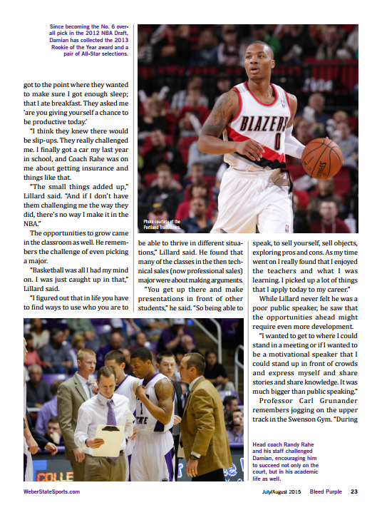 Damian Lillard Bleed Purple Magazine