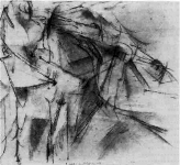 Figure 5: Marcel Duchamp, 2 Nudes: One Strong and One Swift, 1912, pencil on paper.