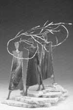 sculpture entitled Sisters of the Wind.