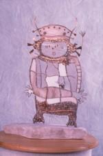 sculpture entitled Peaces.