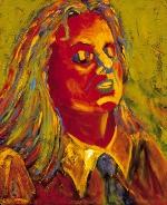 """""""Cherrie Moraga,"""" Oil Painting, 24"""" x 36"""", Chicana Writer Series."""