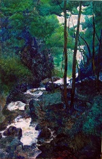"Painting, ""Whitewater Canyon,"" 2002, 60 cm x 100 cm"