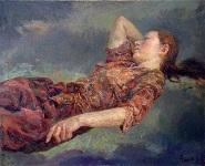 """Painting, """"Dream,"""" 2001, 80 cm x 100 cm"""