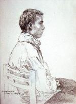 Painting, figure study, 2003, 14 cm x 18 cm
