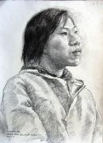 Painting, figure study, 2002, 40 cm x 50 cm