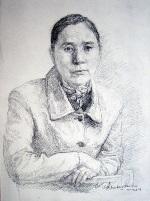 Painting, figure study, 2003, 18 cm x 23 cm