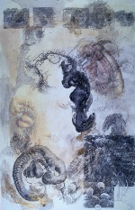"Sistine Chapel; 27"" x 17""; mixed media on paper; 1999"