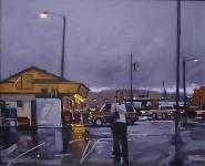 "Doug Braithwaite; Evening Shift, Oil, 16"" x 20"""
