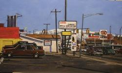 """Doug Braithwaite; Lucky's, Oil, 16"""" x 25"""""""