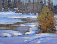 "Roberta Glidden; Yellowstone, Oil, 11"" x 14"""