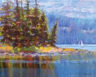 "Roberta Glidden; Spirit Lake, Oil, 16"" x 20"""